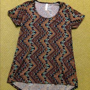 Lularoe Classic Tee Size XXS Aztec Print Tunic
